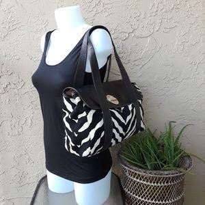 kate spade Bags - KATE SPADE Animal Print Canvas Leather Handbag